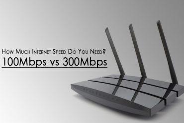 A 100Mbps vs 300Mbps